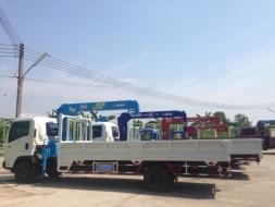 รถบรรทุก 6 ล้อ กลาง ใหม่ติดเครน ราคาถูกisuzu FRR ดาวน์ต่ำ 10%