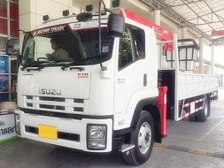 รถบรรทุกอีซูซุ FTR 240แรงม้า ติดเครน 5ตัน5ท่อน มีกระเช้า
