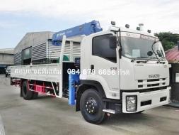 รถบรรทุกอีซูซุ FTR 240 แรงม้า ติดตั้งเครน Tadano