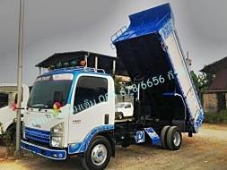 รถดั๊ม รถบรรทุกอีซูซุ 6 ล้อเล็ก รุ่น NMR 130 แรงม้า