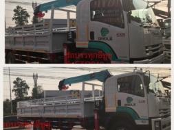 ขายรถบรรทุกติดเครนยาว 7.60 เมตร ติดเครน 5 ตัน  ราคาถูก ดาวน์ถูก