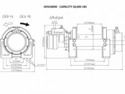 ไฮโดรลิควินซ์ 18000 ปอนด์ Hydraulic Winch 18000 Lbs.